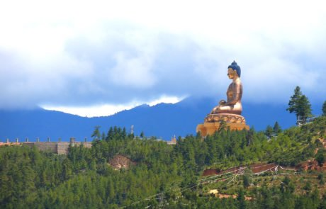 Статуя будды в Тхимпху, Королевство Бутан