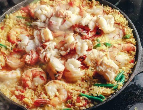 Паэлья с морепродуктами: рецепт с креветками и омарами