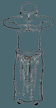 Китайская гимнастика цигун, ицзиньцзин, Вэйто преподносит посох
