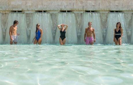 Курорты Италии, Термы сатурнии, водопады