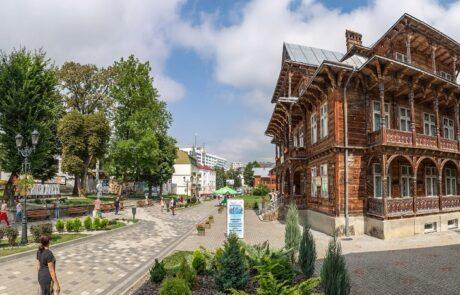 Курортный город Трускавец, центральная площадь