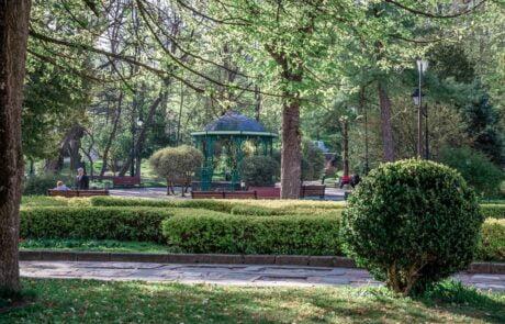 Курортный город Трускавец, центральный парк